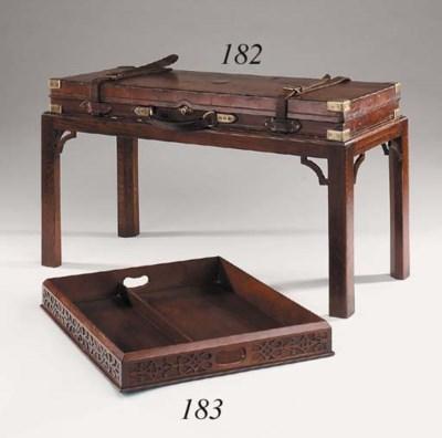 An English mahogany tray in th