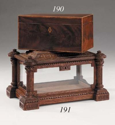 A Victorian glazed oak letter