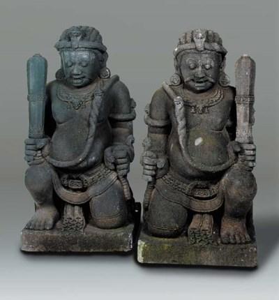 A pair of Javanese andesite dv