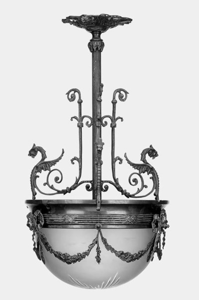 A French gilt metal and froste