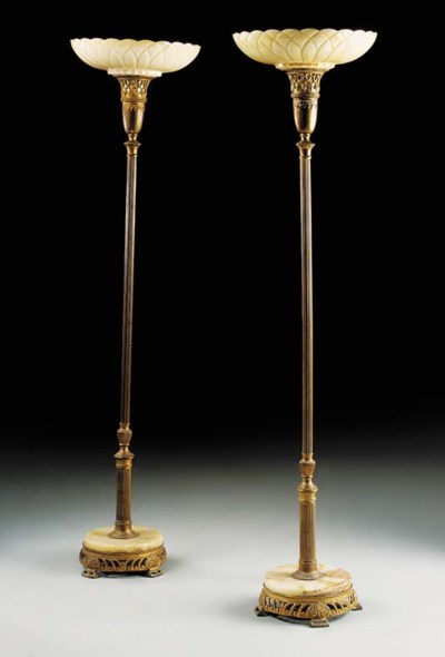 A pair of Continental brass, o