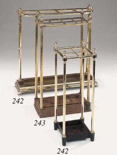 A Victorian brass and cast iro