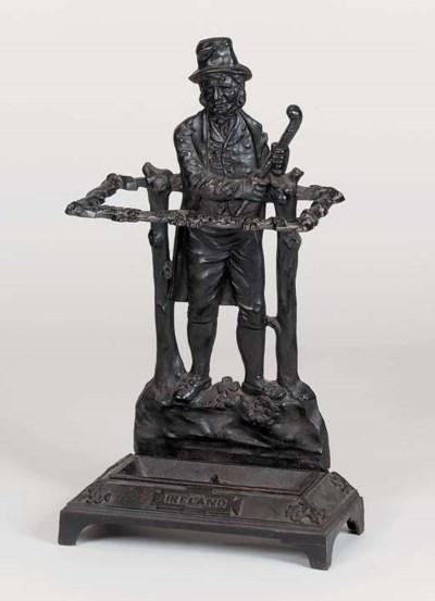 A Victorian cast iron stick st