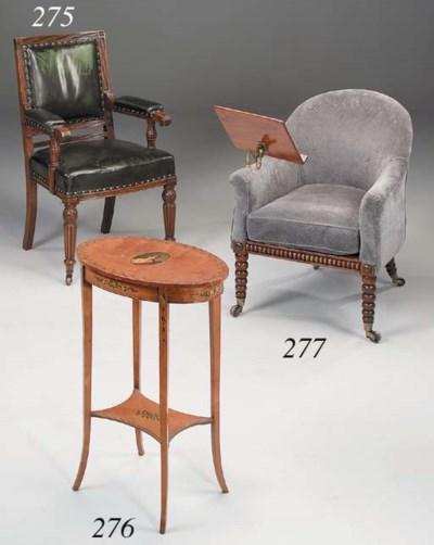A Victorian mahogany armchair