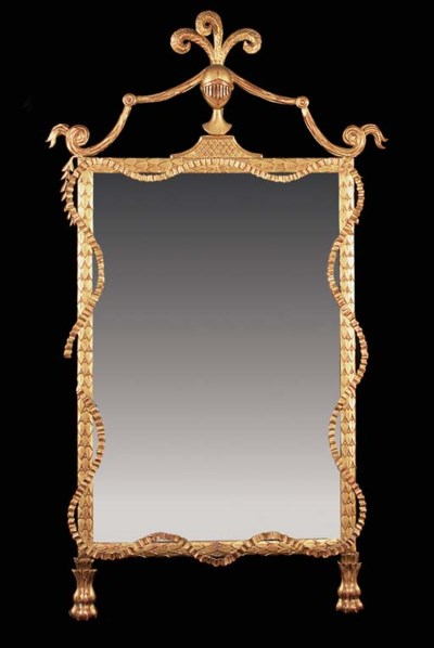 A giltwood wall mirror, late 1