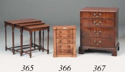 A small mahogany chest, 19th c