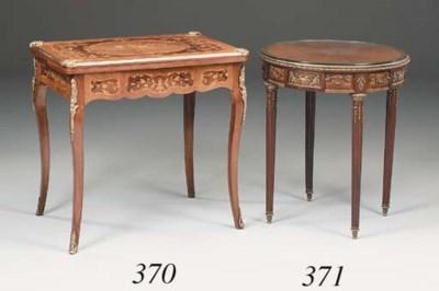 A French mahogany, kingwood an