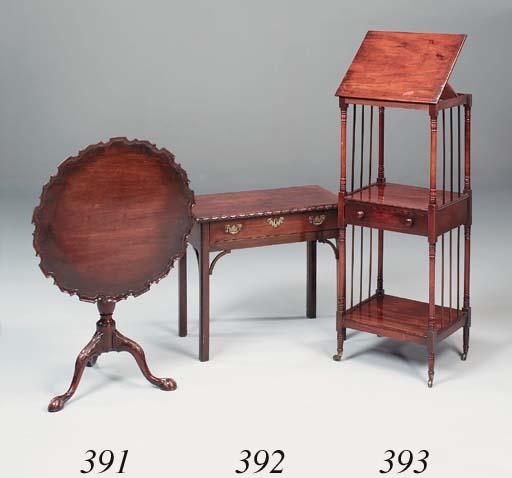 A mahogany side table, 18th ce