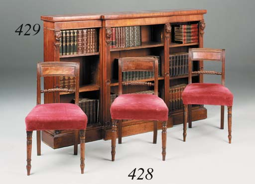 A set of five Regency mahogany