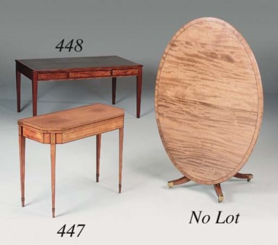 A mahogany writing desk, late