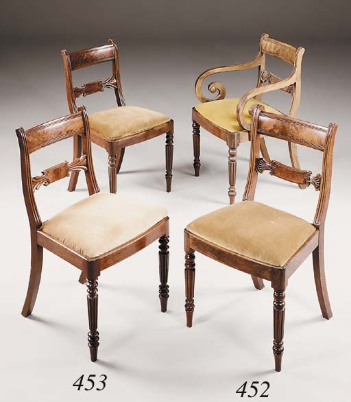 A matched set of eight Regency