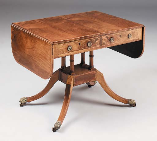 A Regency rosewood and crossba