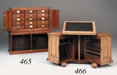 A Victorian oak patent desk