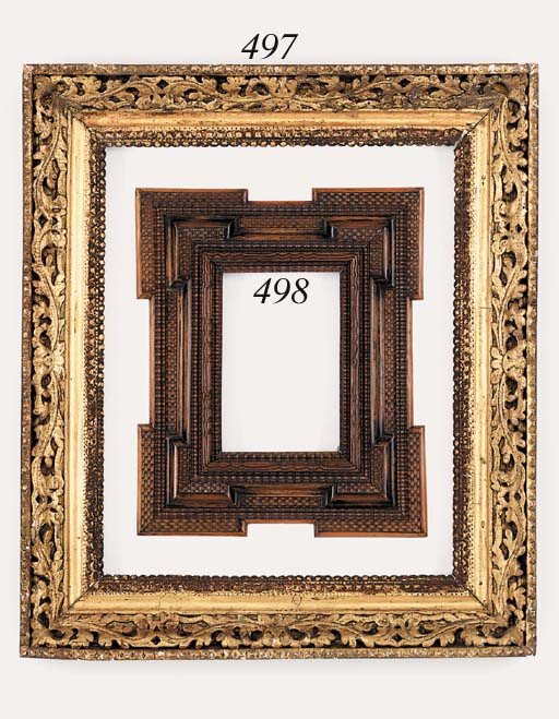 An Italian carved and gilded frame, early 18th century