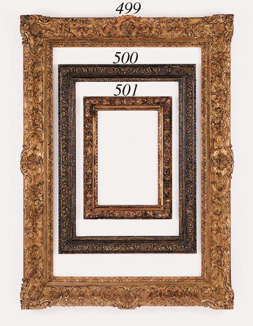 A Continental carved and gilded frame in the Louis XIV style, 19th century