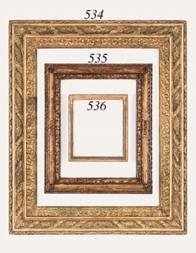 A gilt composition frame in th