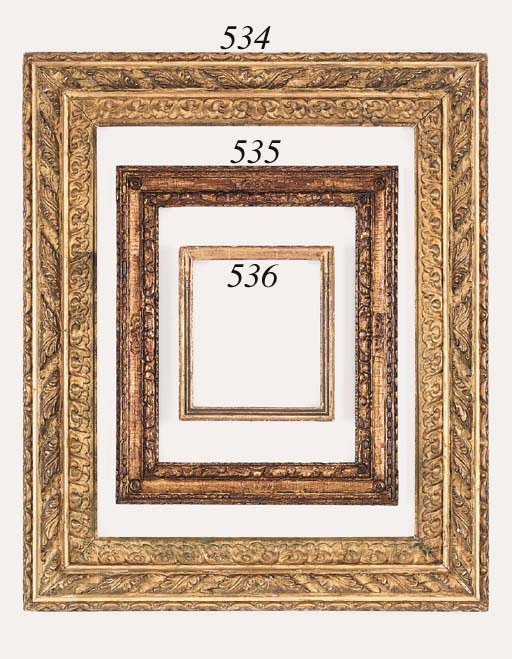 A Spanish carved and gilded frame, early 18th century