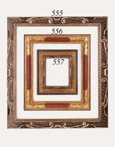 A painted and gilded frame in