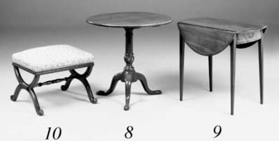 A mahogany X-frame stool, earl