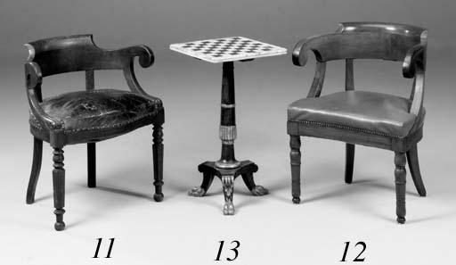 A French mahogany fauteuil de