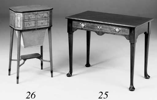 A mahogany side table, 20th ce