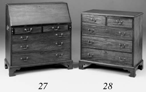 A mahogany chest, 18th century