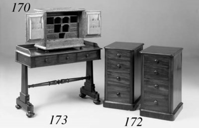 A pair of mahogany side chests