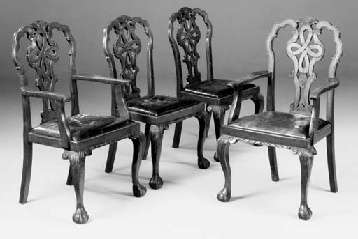 A set of eight stained beech d
