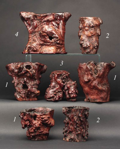 A Chinese root wood brushpot 1
