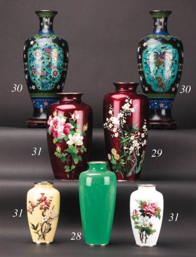A Japanese enamel vase 20th Ce