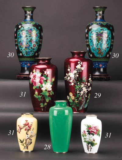 A Japanese cloisonne vase 20th