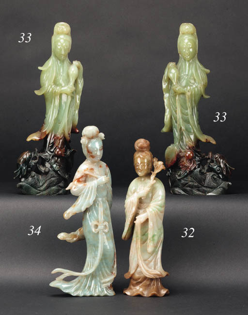 A Chinese jade figure of Guanyin 20th Century
