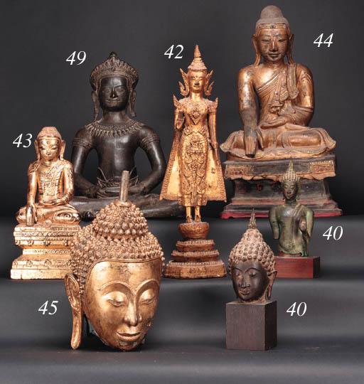 A Thai gilt lacquered wood mod