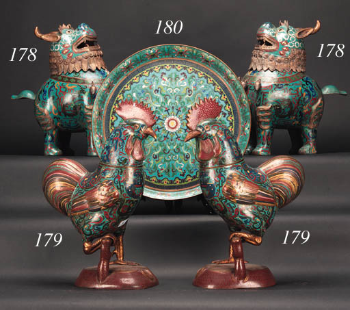 A pair of Chinese cloisonne ce
