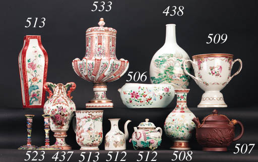 A famille rose bottle vase 18t