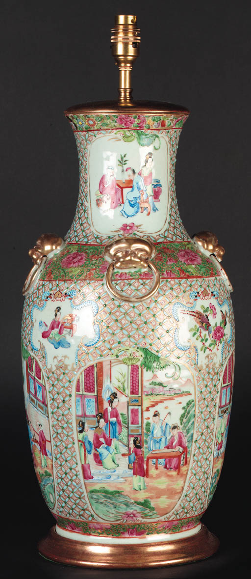 A Cantonese baluster vase 19th