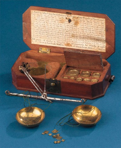 A 19th Century diamond balance
