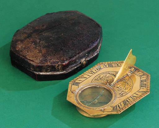 A brass Butterfield-type dial,