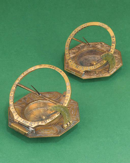 An 18th-Century brass compass