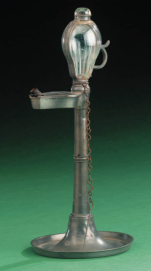 A 19th-Century pewter oil time