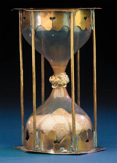 A 17th-Century sand-glass,