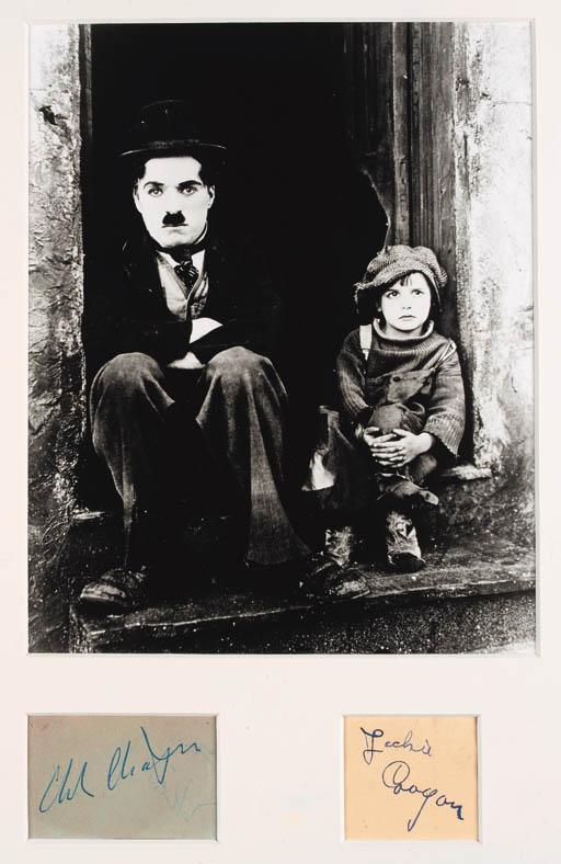 Charlie Chaplin And Jackie Coo