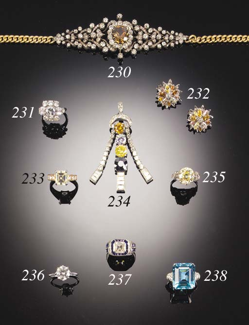 A 19TH. CENTURY BROWN DIAMOND
