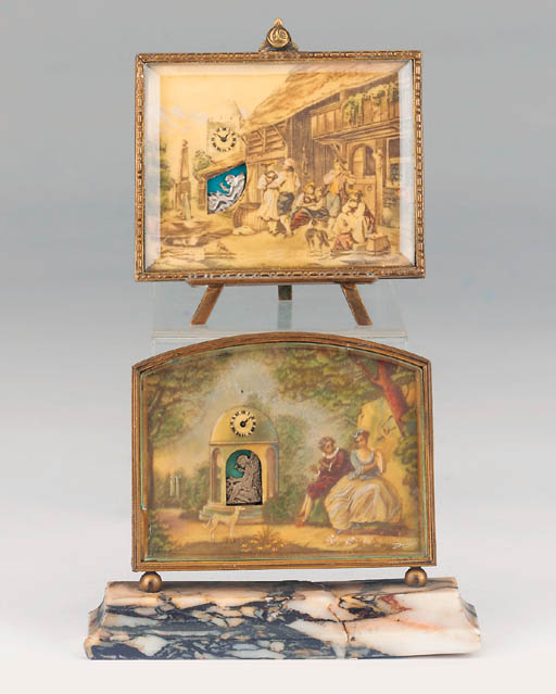 Two Swiss novelty automaton de