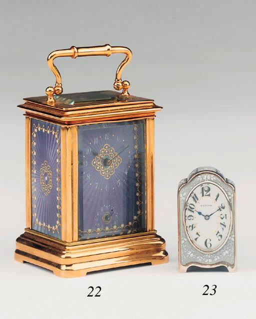 A Continental gilt-brass and e