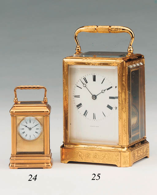 A French engraved gilt-brass s