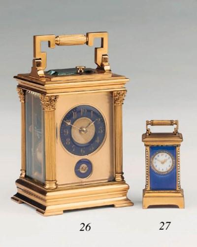 A Swiss gilt-brass and guilloc