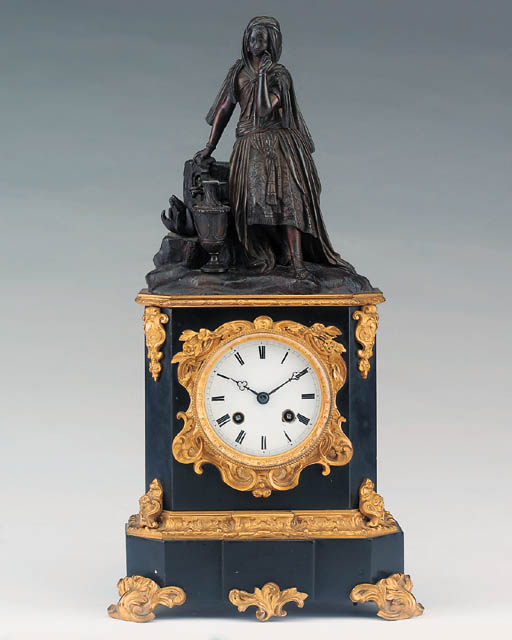 A Louis Philippe black marble,