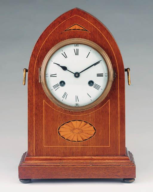 A German mahogany and inlaid s