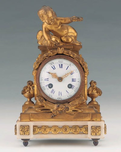 A French small gilt-bronze and